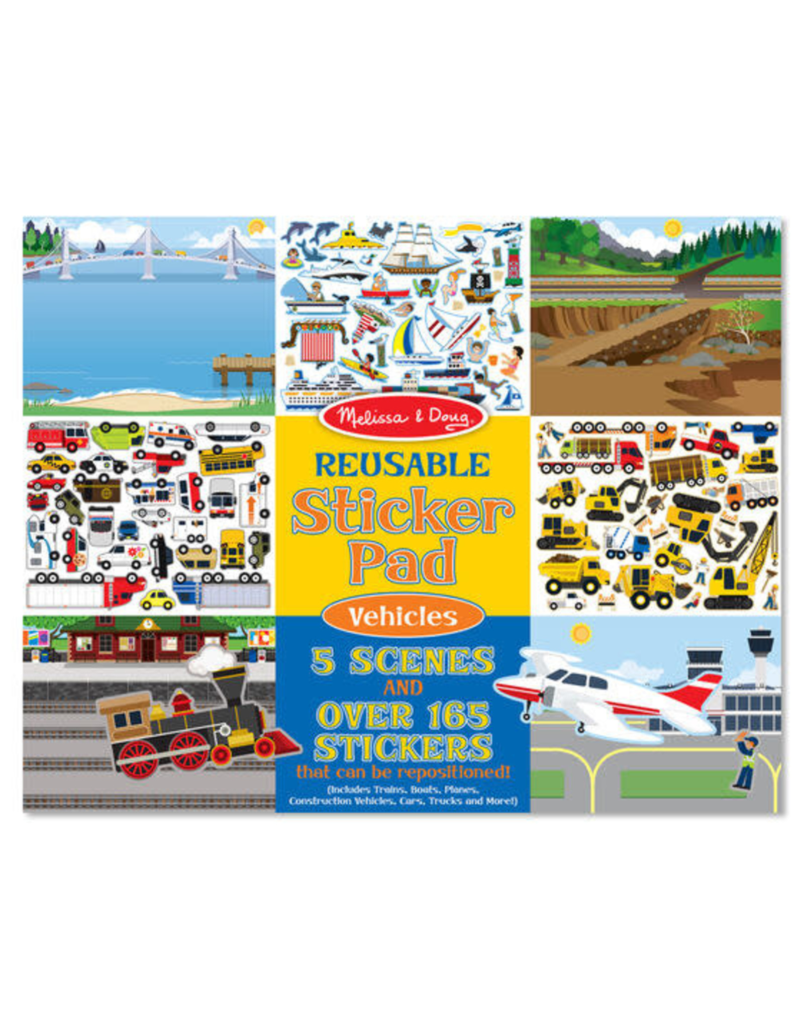 Melissa & Doug Melissa & Doug: Reusable Sticker Pad Vehicles
