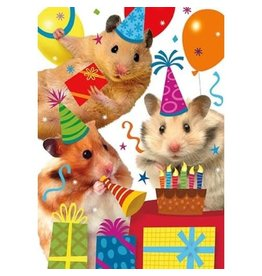 Peaceable Kingdom Hamster Party Birthday Card