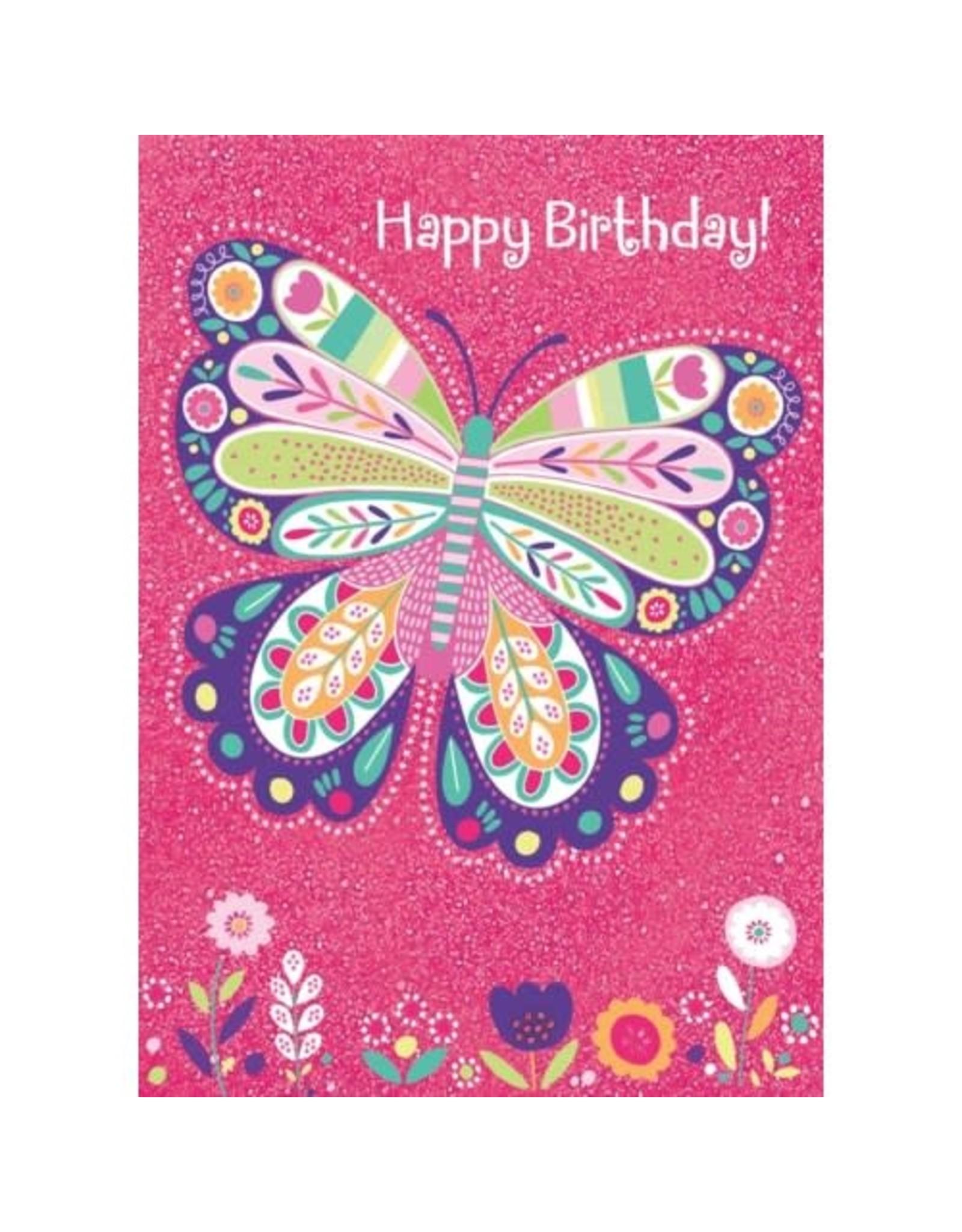 Peaceable Kingdom Sparkle Butterfly Foil Card