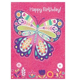 Peaceable Kingdom Sparkle Butterfly Foil Card