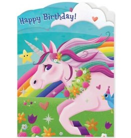 Peaceable Kingdom Unicorn Tri-Fold Card