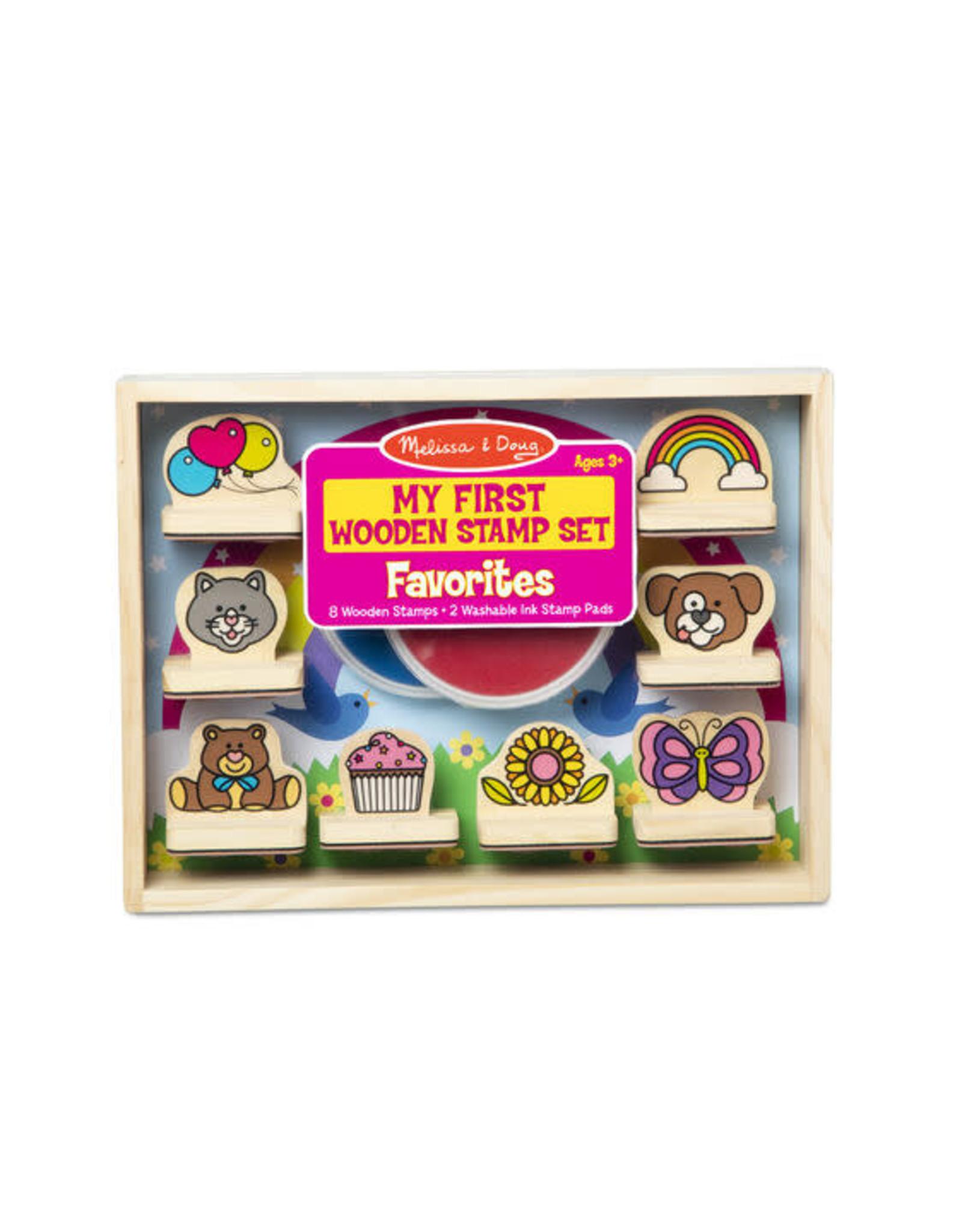 Melissa & Doug Melissa & Doug: My First Wooden Stamp Set - Favourites