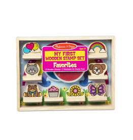 Melissa & Doug My First Wooden Stamp Set - Favourites