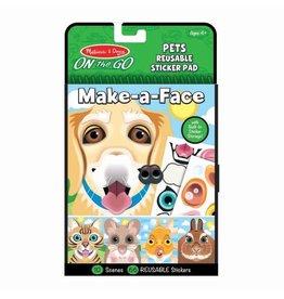 Melissa & Doug Make-a-Face Reusable Sticker Pad - Pets