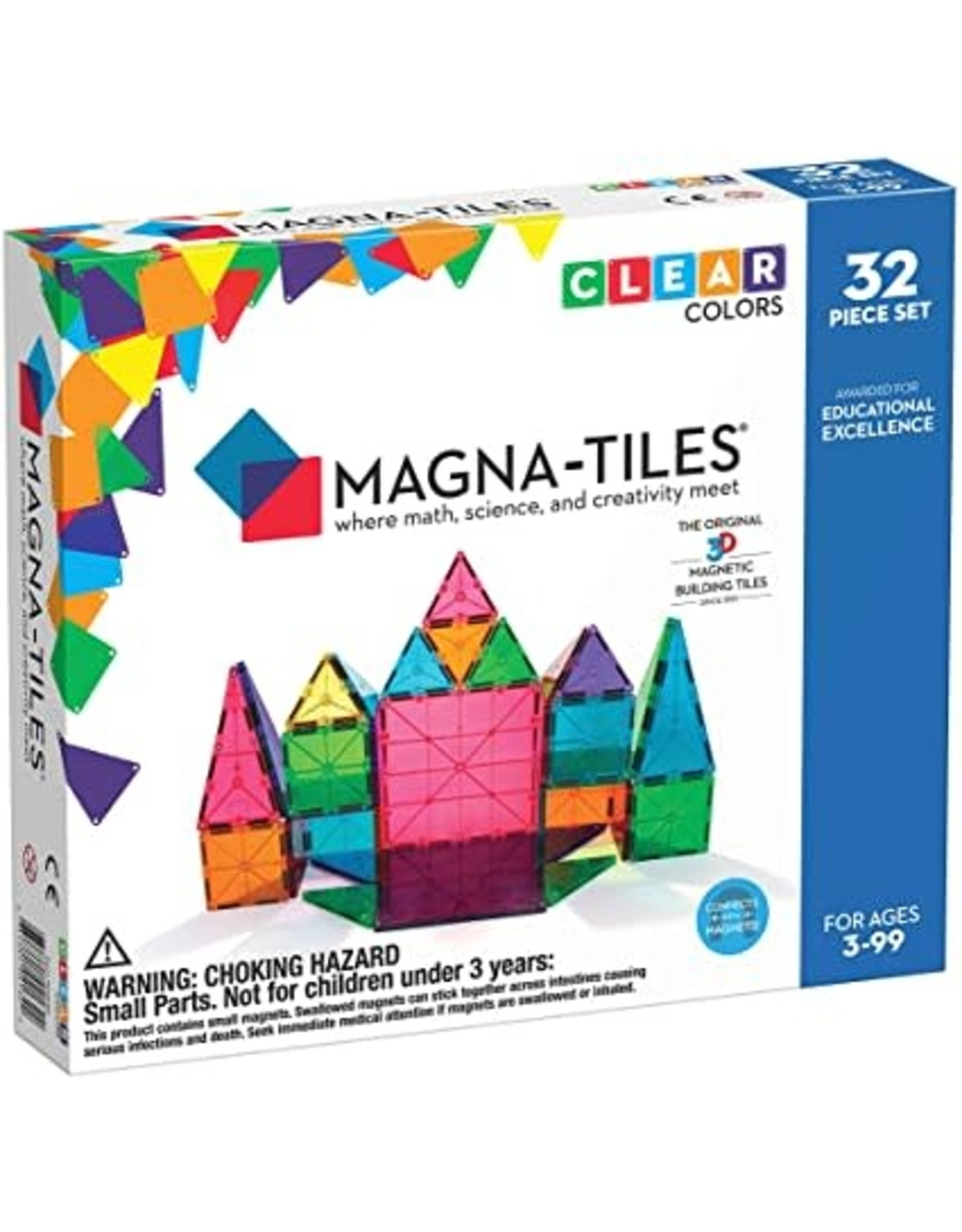 Magna-Tiles Magna-Tiles Clear Colours 32 pc