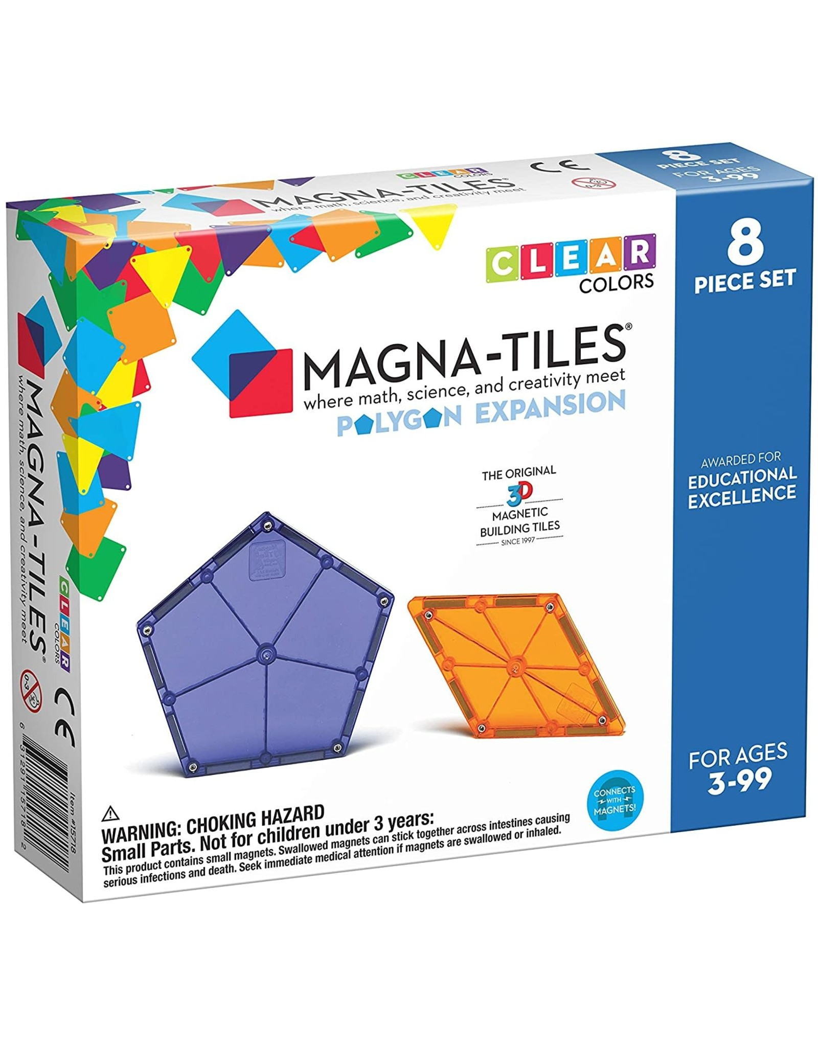 Magna-Tiles Magna-Tiles Polygons 8 pc expansion