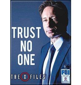 X Files Mulder Trust No One Flat Magnet
