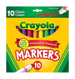 Crayola Crayola 10 Classic Colour Markers