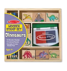 Melissa & Doug Melissa & Doug: Wooden Dinosaur Stamp Set