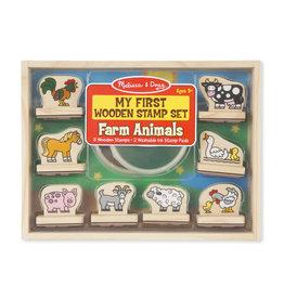 Melissa & Doug Melissa & Doug: My First Wooden Stamp Set - Farm Animals