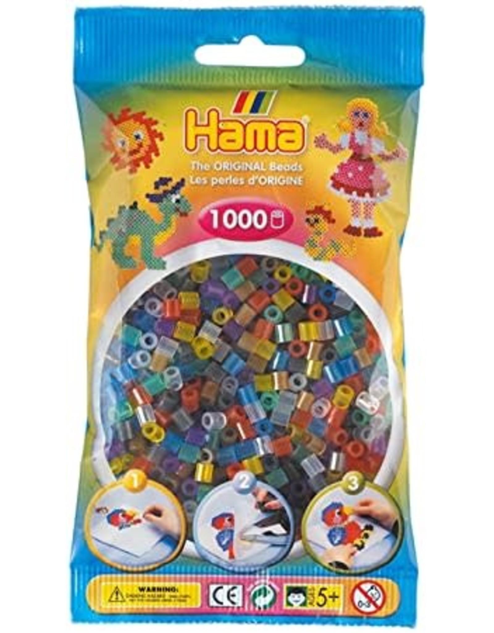 Hama Hama 1000 Translucent Mix Beads in Bag