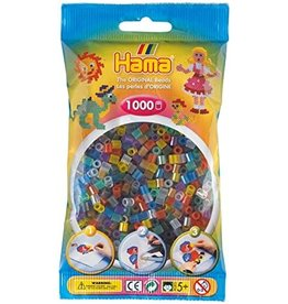 Hama Hama 1000 Translucent Mix Beads in Bag
