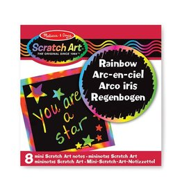 Melissa & Doug Rainbow Mini Scratch Art Notes