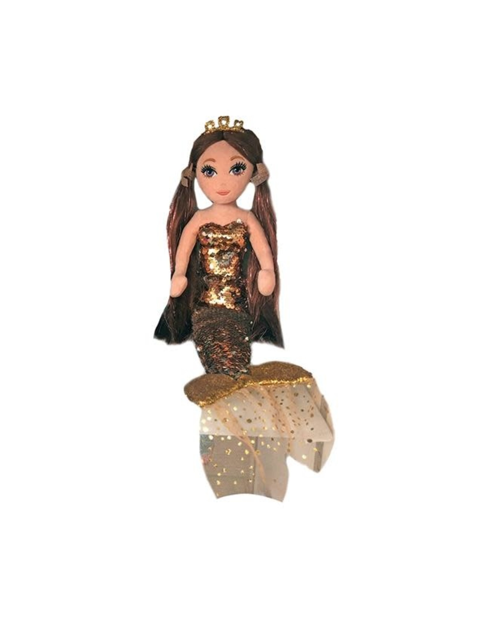 Ty Ginger - Brown/Gold Sequin Mermaid Lrg