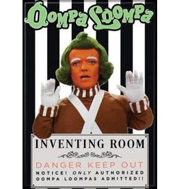 Willy Wonka Oompa Loompa Flat Magnet