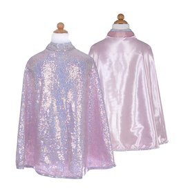 Great Pretenders Silver Sequins Reversible Cape, Size 7-8