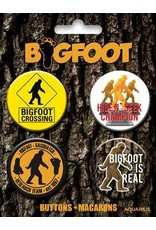 Bigfoot Carded Button 4 Pack