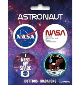 NASA Carded Button 4 Pack