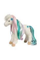 Douglas Rainbow Princess White Horse w/brush