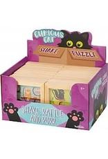 Toysmith Curious Cat Shake Wood Puzzle