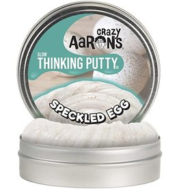 Crazy Aaron's Crazy Aaron's Thinking Putty Speckled Egg 4 inch Tin - Glow in the Dark