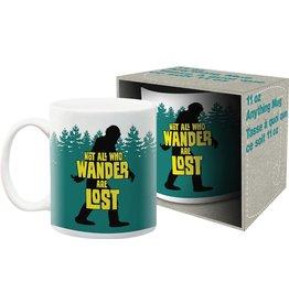 Bigfoot Not All Who Wander Mug