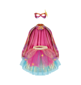 Great Pretenders Super-duper Tutu/Cape/Mask Pink/Gold Size 4-6