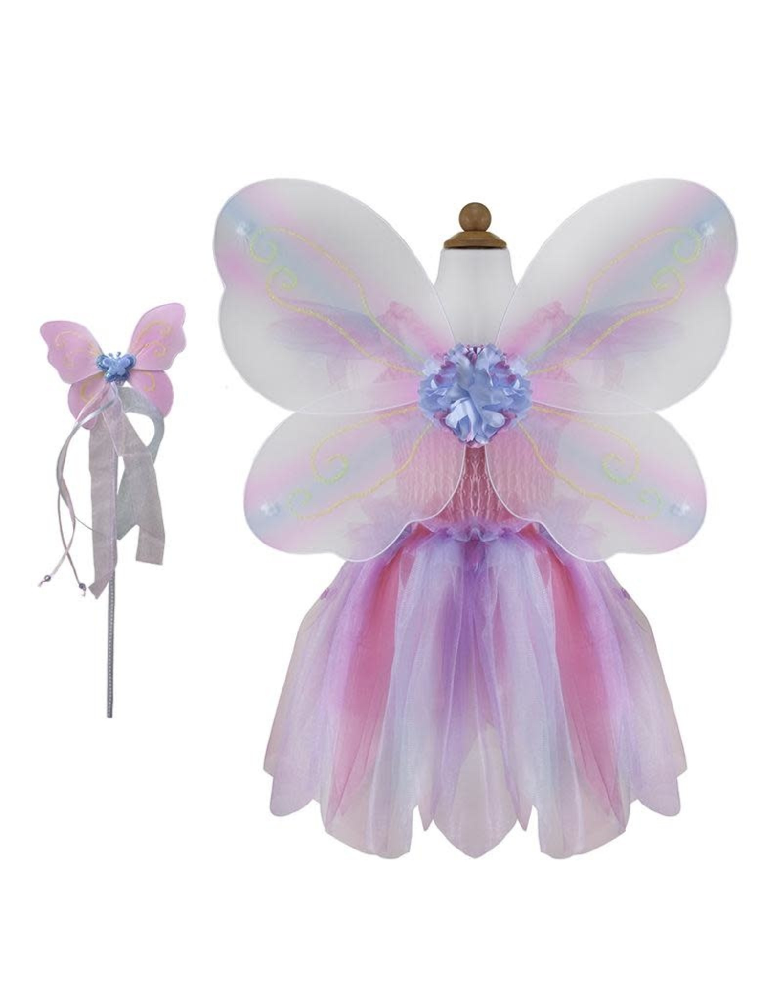 Creative Education Butterfly Dress w/Wings & Wand Pink/Multi