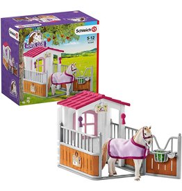 Schleich Horse Stall with Lusitano Horses
