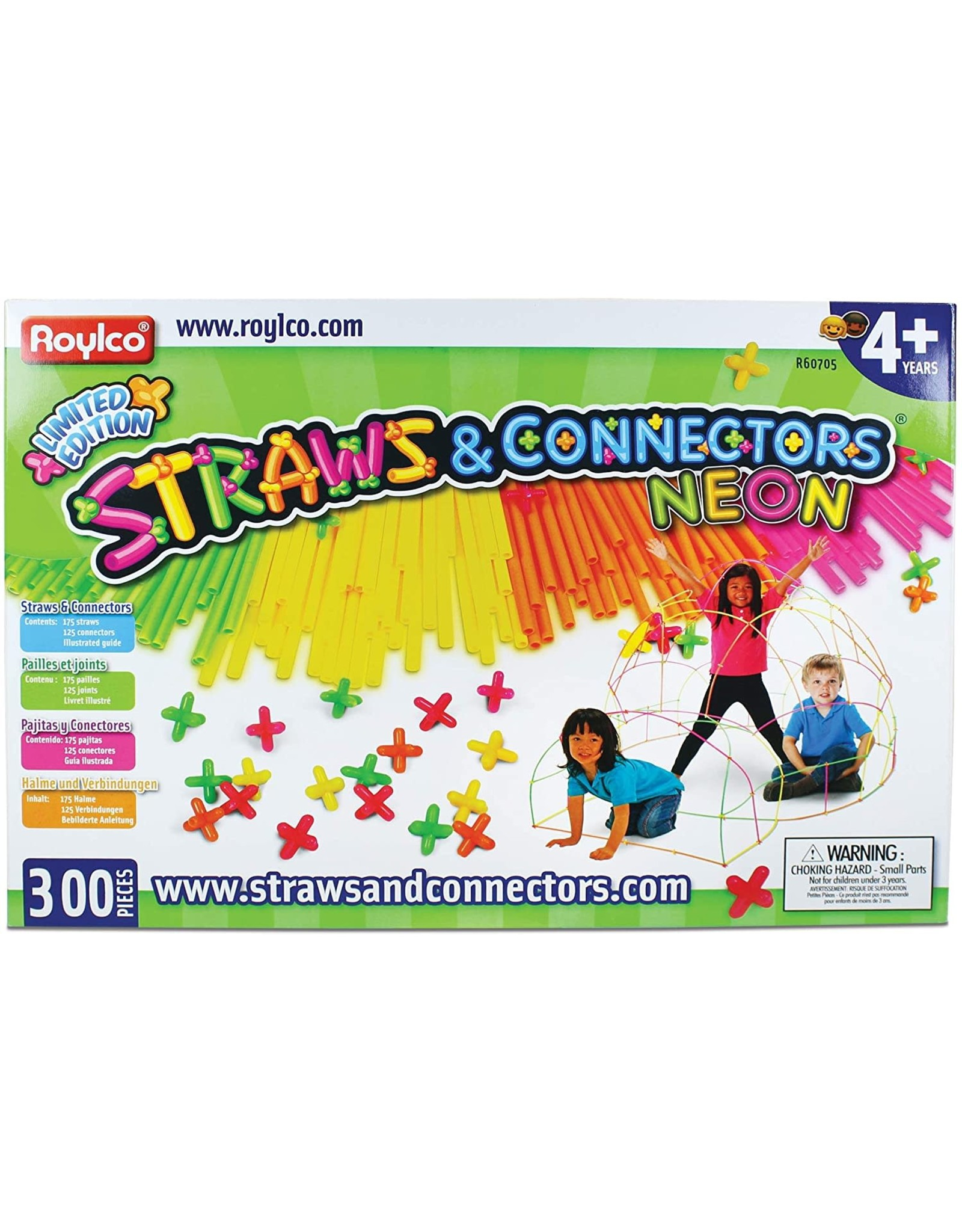 Roylco Roylco Neon Straws & Connectors 300