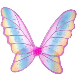 Great Pretenders Glitter Rainbow Wings - Pink