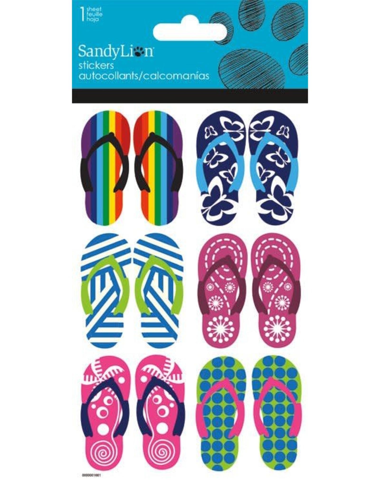 Flip Flops Glitter Stickers