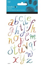 Colorful Script Clear Stickers