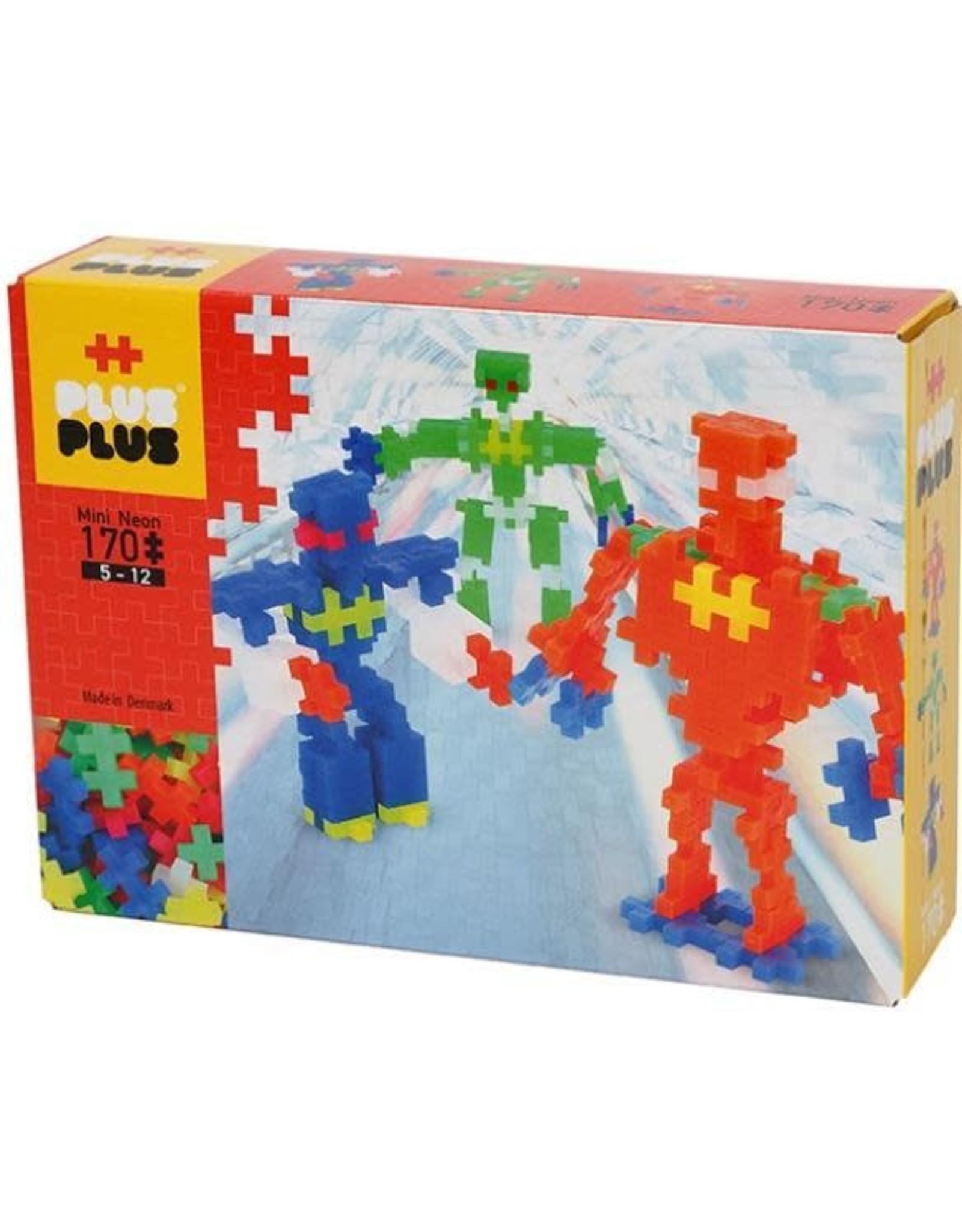 Plus-Plus Plus-Plus Mini Neon Robots 170 pc