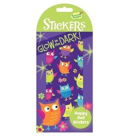 Peaceable Kingdom Glowing Happy Owl Stickers