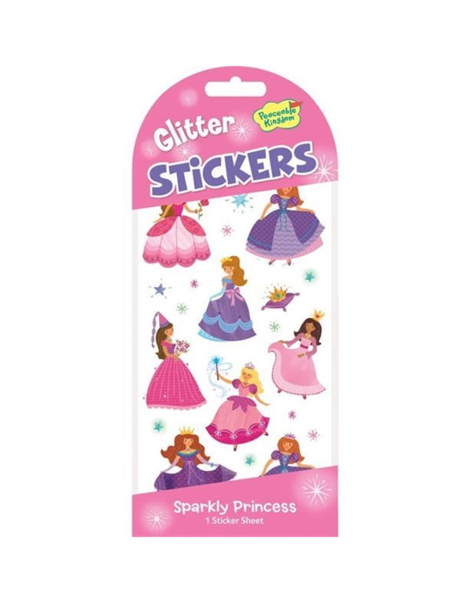 Peaceable Kingdom Sparkly Princess Glitter Stickers