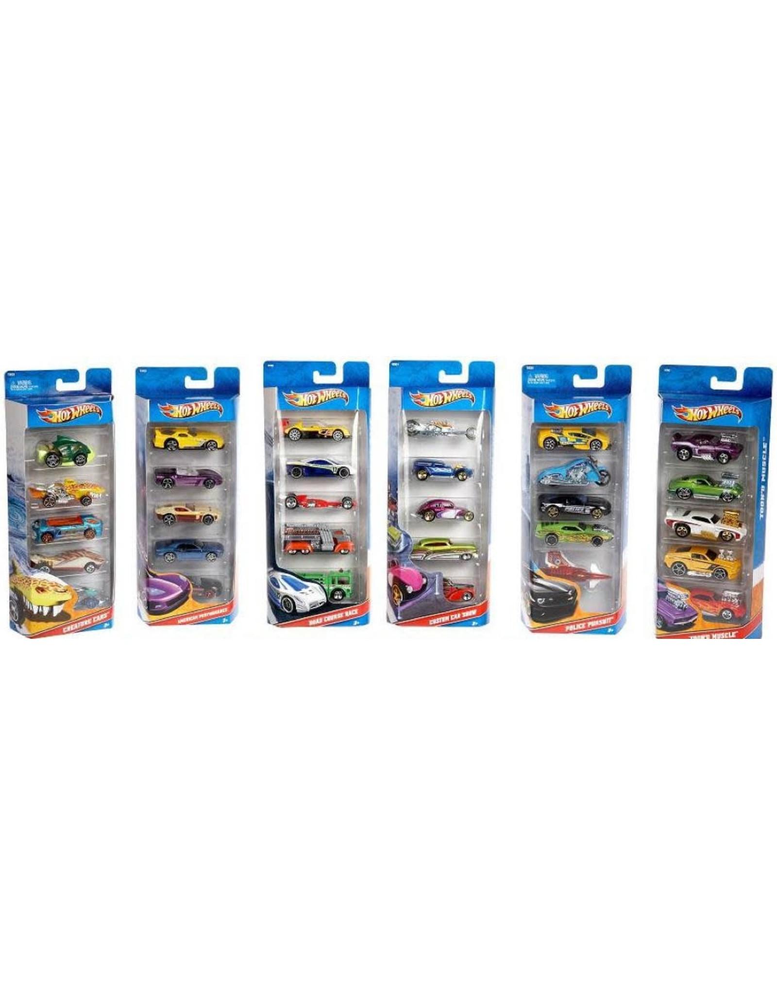 Hot Wheels 5 Car Set