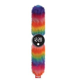 Watchitude Watchitude Rainbow Fuzzy Slap Watch