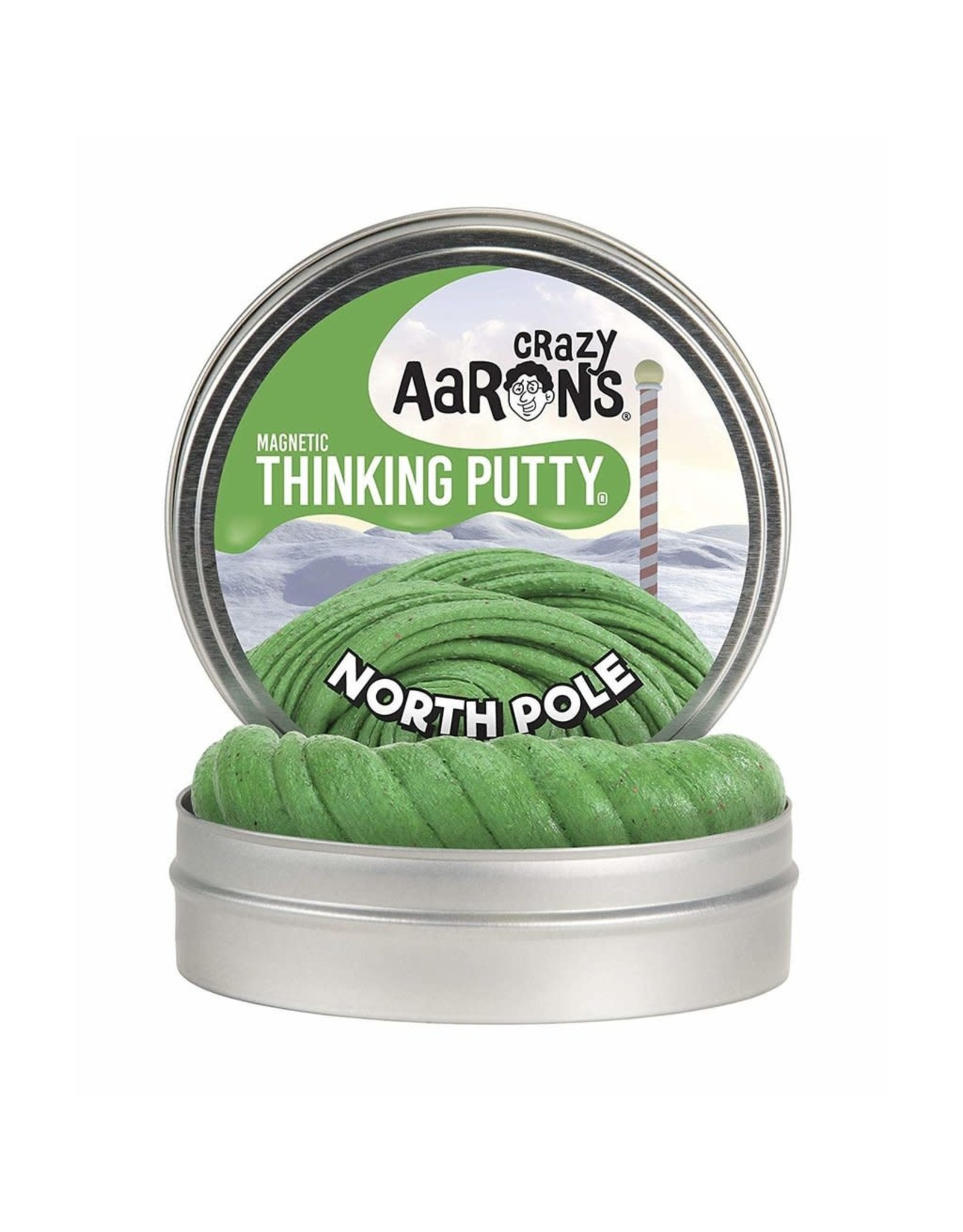 "Crazy Aaron's Crazy Aaron's 4"" Tin North Pole - Magnetic"