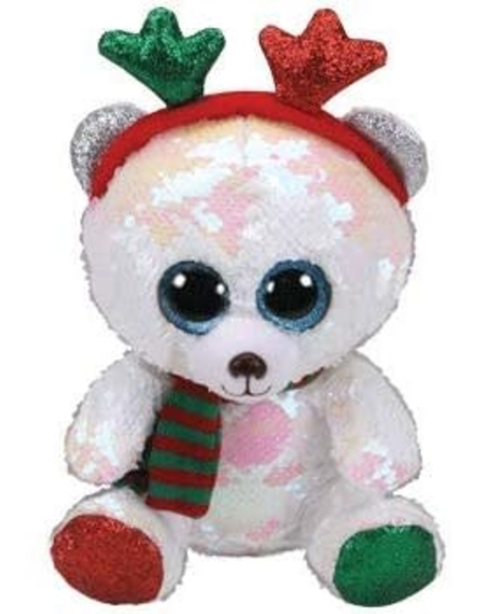 Ty Mistletoe - Bear with Antlers Med