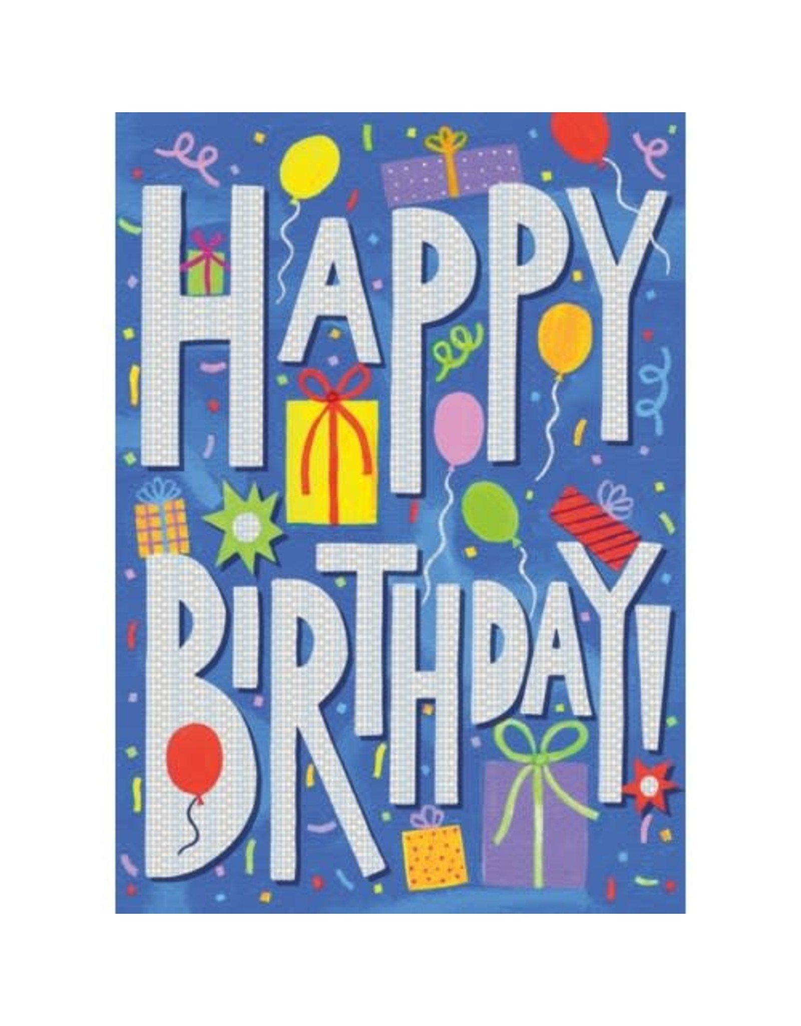 Peaceable Kingdom Happy Birthday Foil Card