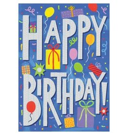 Peaceable Kingdom Happy Birthday Foil Card