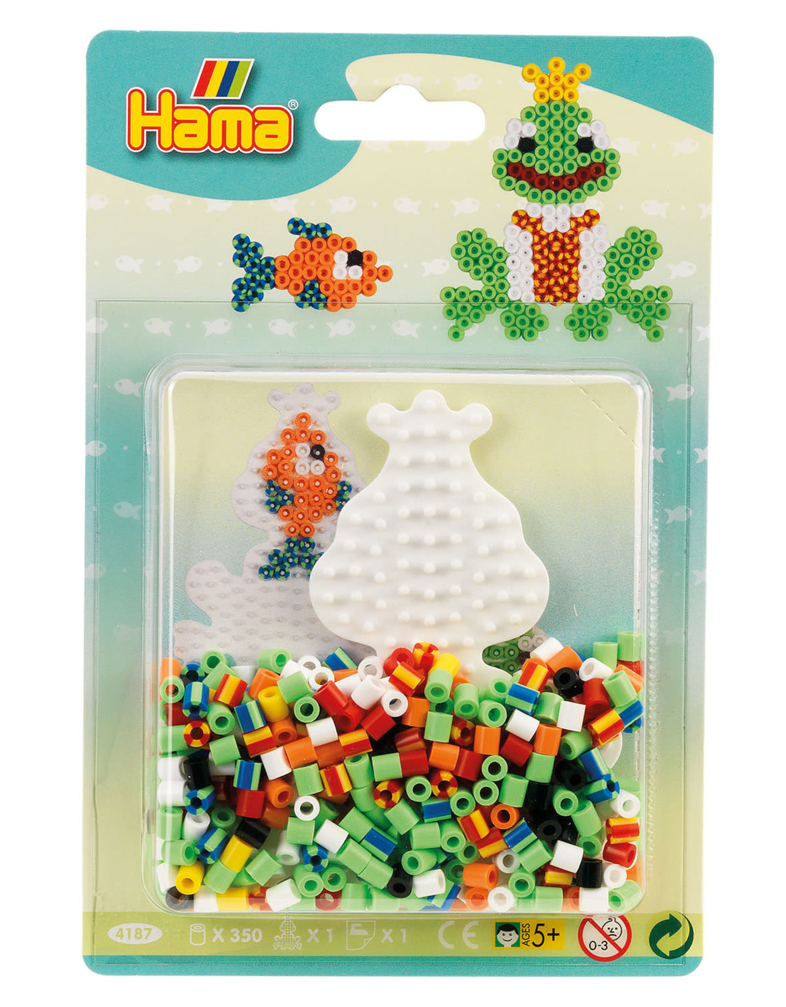Hama Hama Small Striped Bead Kit Blue