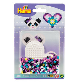 Hama Hama Small Striped Bead Kit Purple