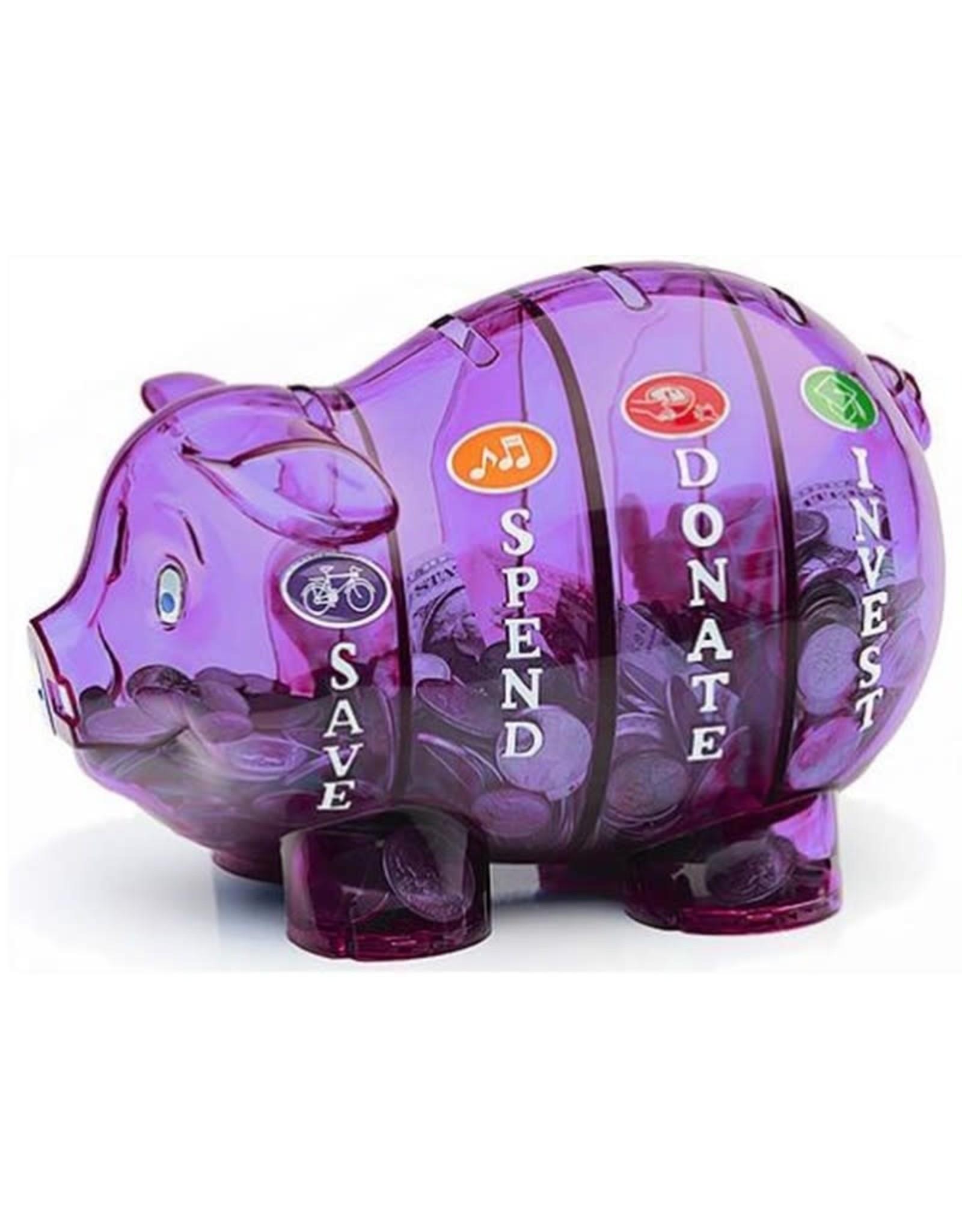 Money Savvy Piggy Bank - Purple