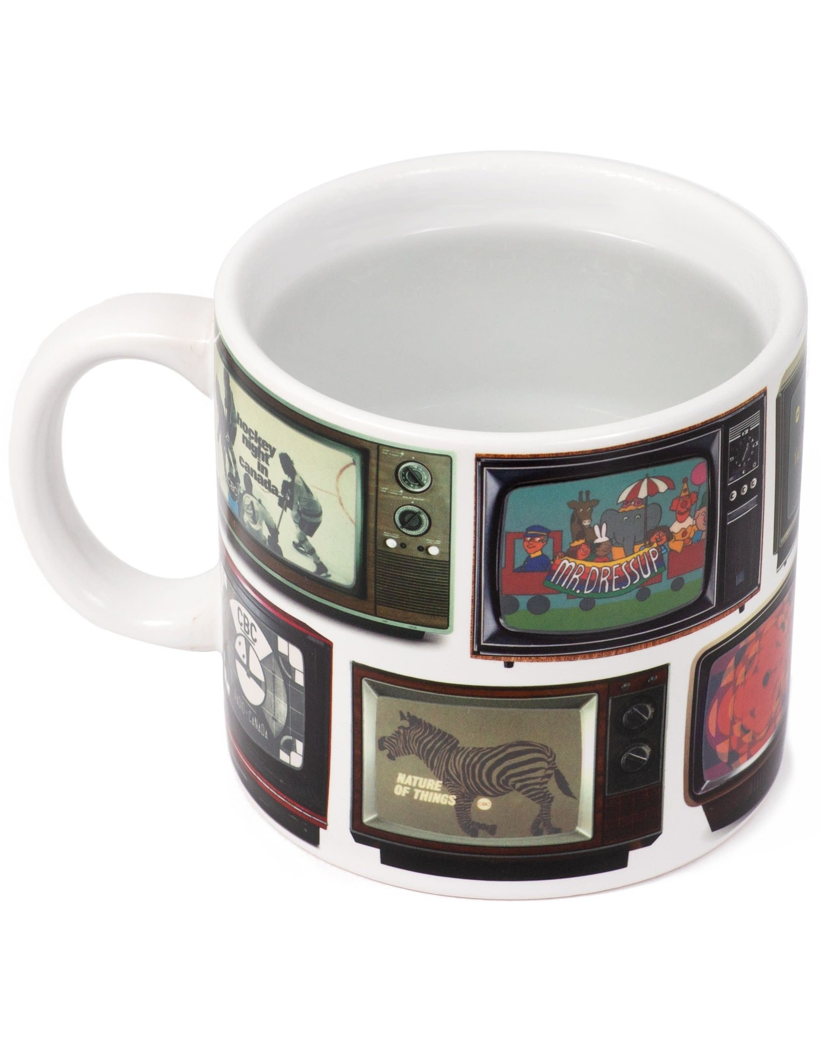 Main & Local CBC Retro TV Channel Heat Change Mug