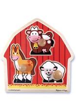 Melissa & Doug Melissa & Doug: Barnyard Animals Jumbo Knob Puzzle