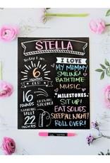 Love Designs Milestone Baby Monthly/Birthday