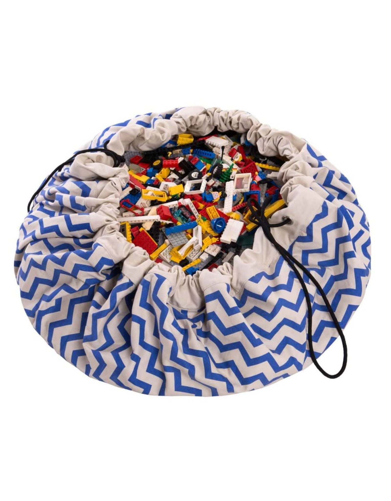 Play & Go Storage Bag & Playmat Zig Zag Blue