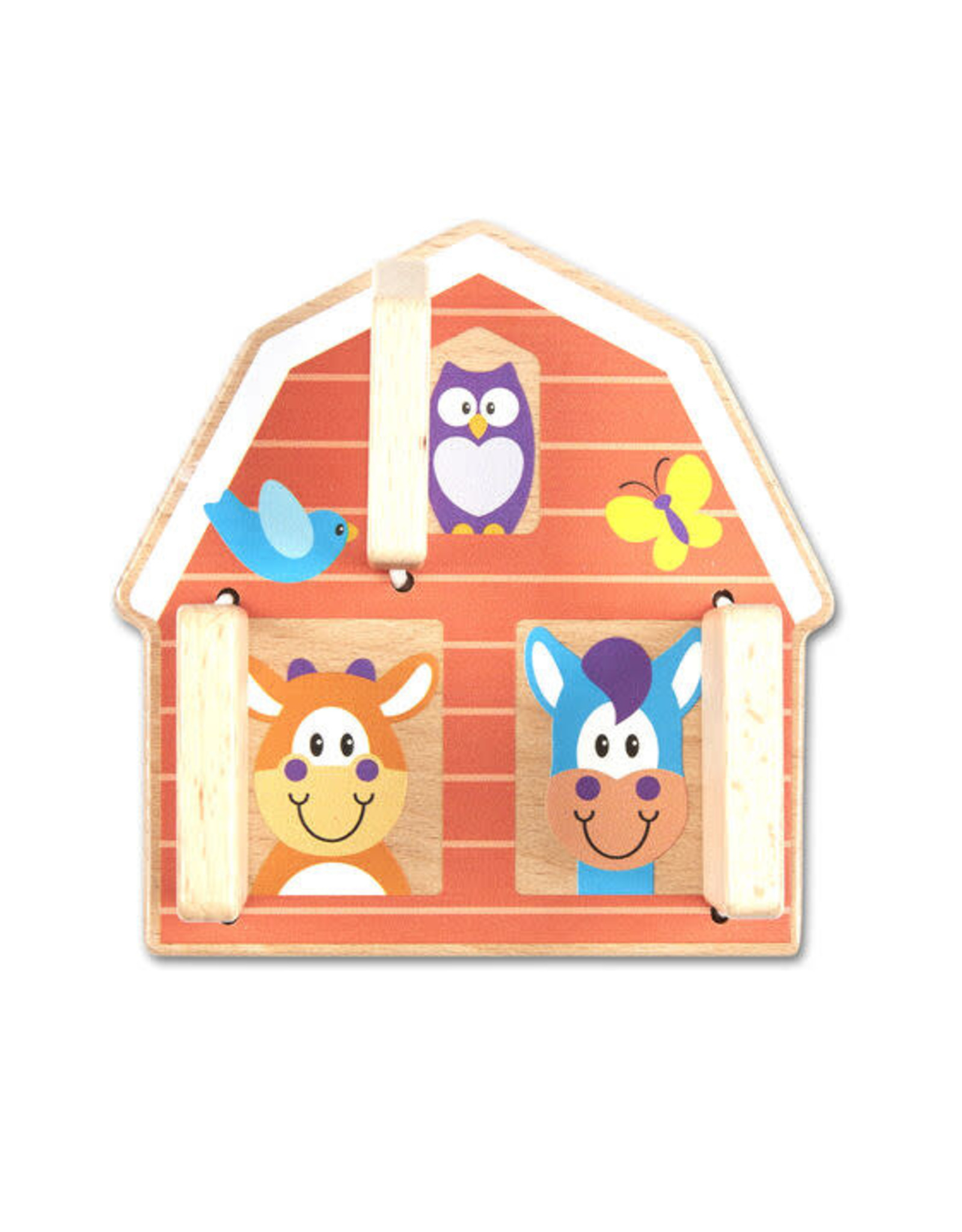 Melissa & Doug First Play Peek-a-Boo Farm